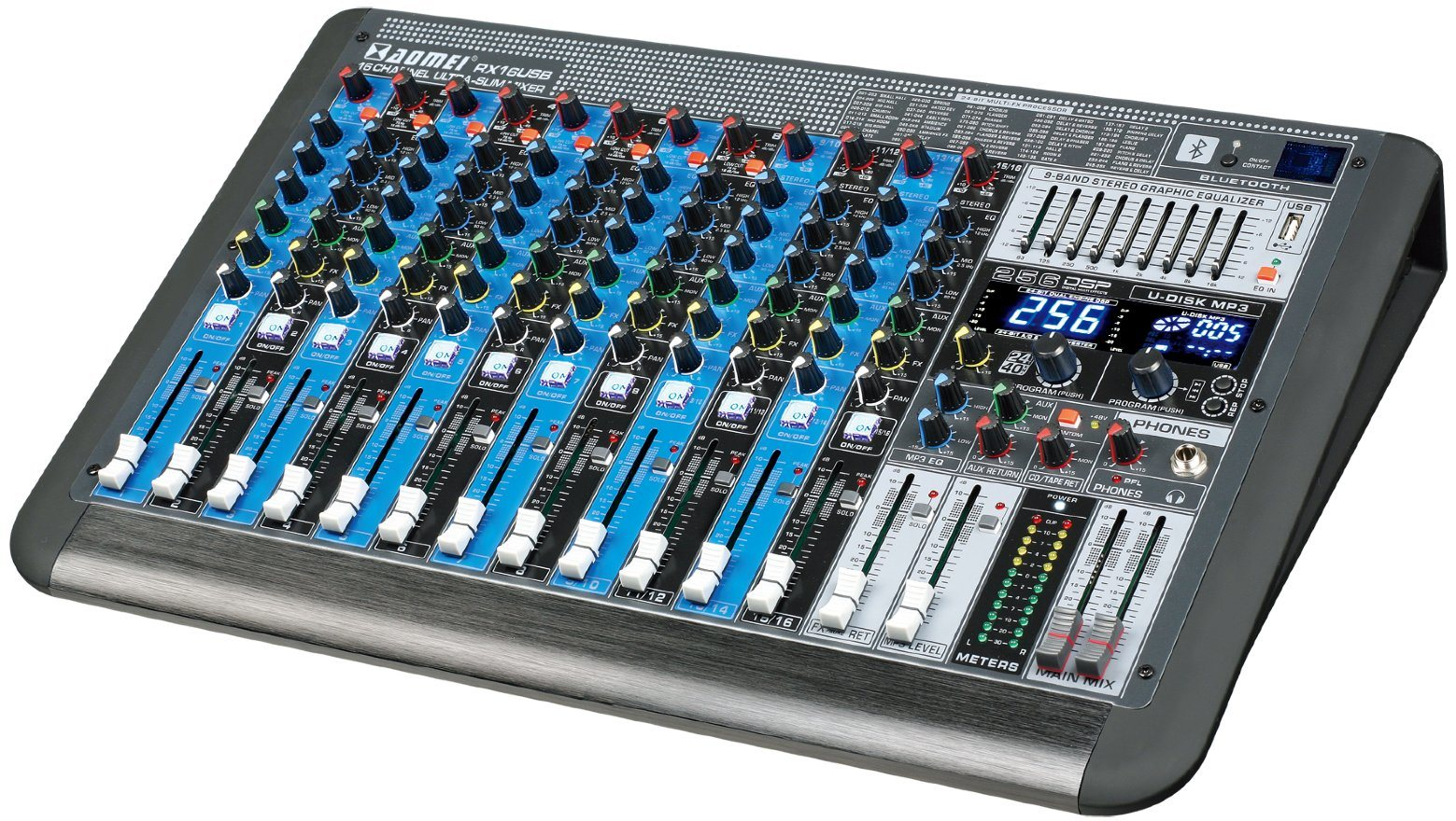 Special New Design Mixer Rx6USB Series Professional Amplifier
