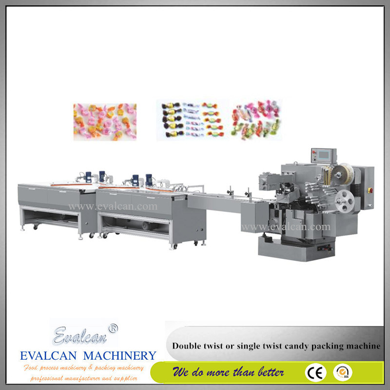 Automatic Horizontal Flow Single Twist Manual Candy Roll Film Wrapping Machine