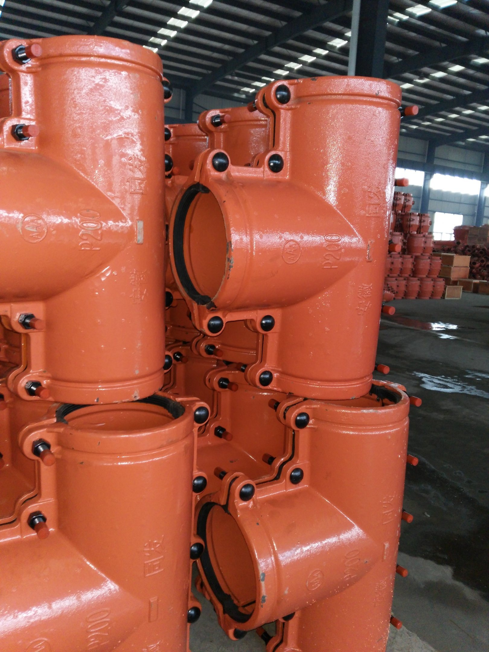 PE, PVC Pipe Repair Clamp Tee P200, Pipe Repair Coupling, Pipe Leak Repair Clamp, Leaking Pipe Quick Repair.