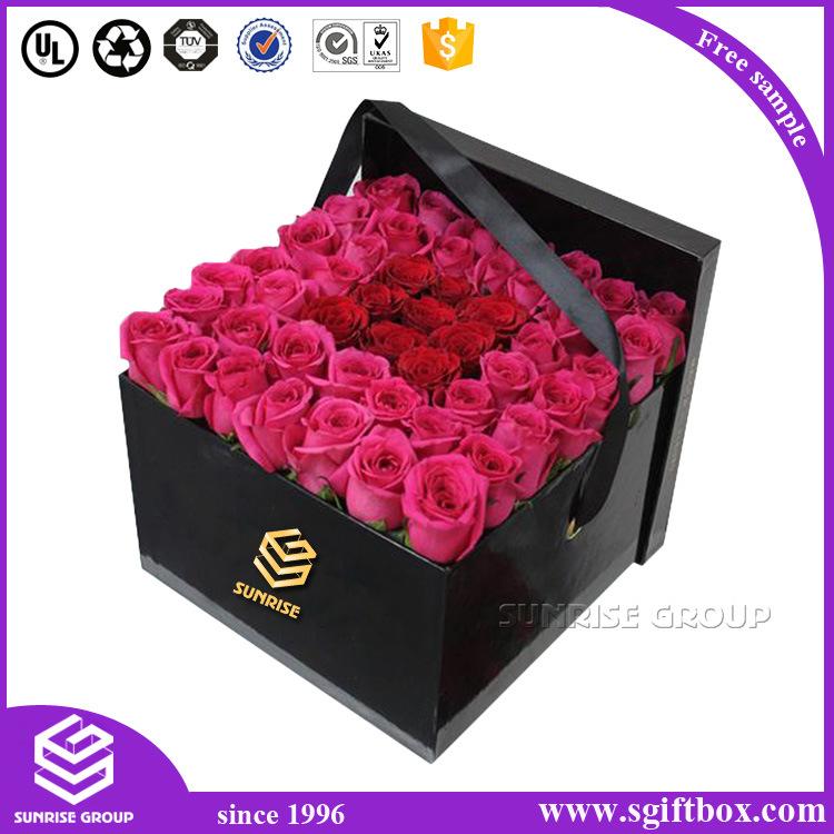 Luxury Custom Cardboard Paper Packging Round Flower Box