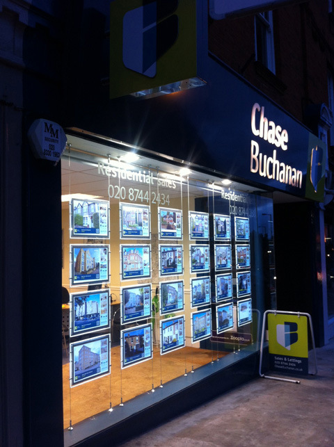 Estate Agents Use Back Lit LED Displays