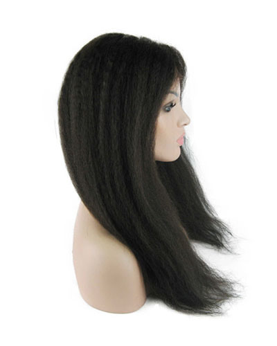 "18"" 2# Kinky Straight Lace Front Wig"