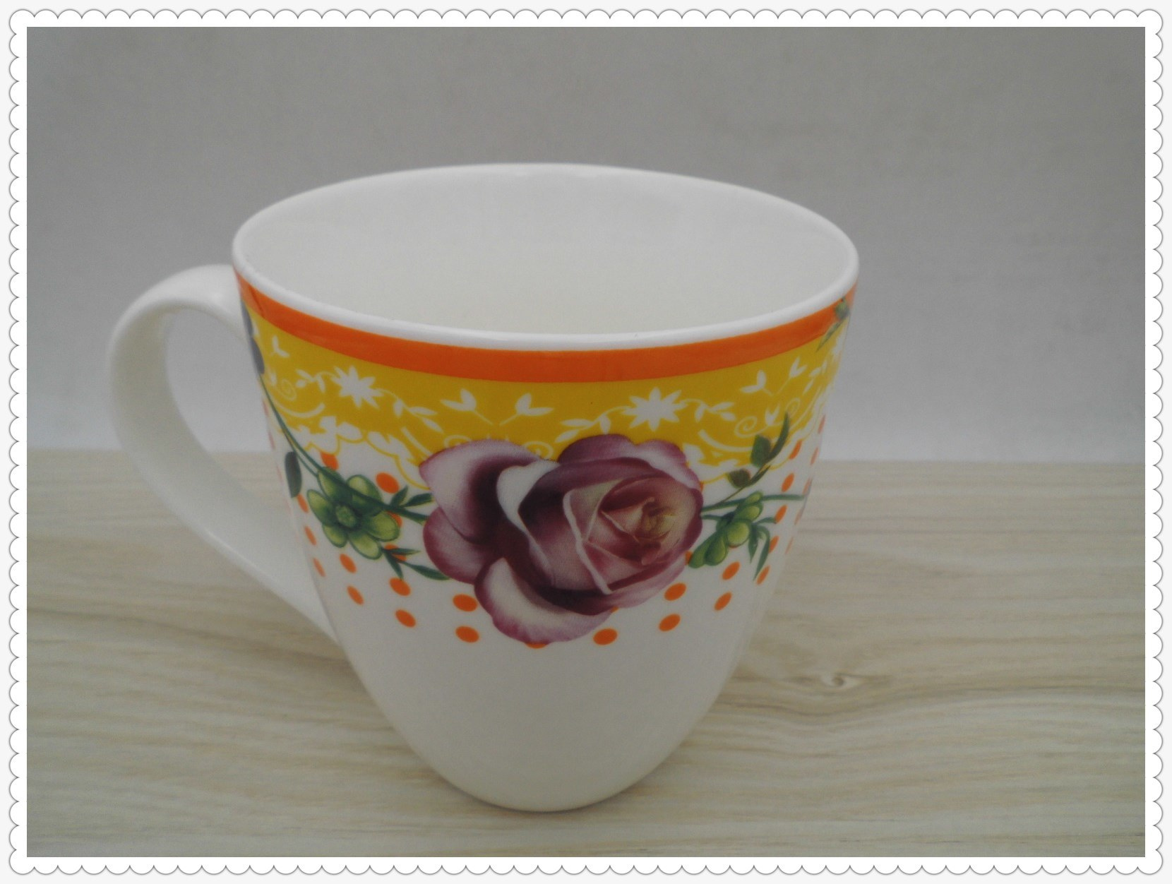 14 Oz Flower Surface Ceramic Mug