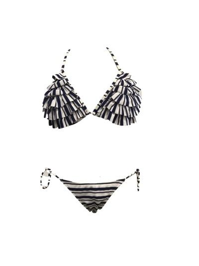 Women′s Knitted Jacquard Swimwear Set Bikini