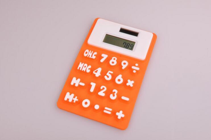 Portable 8 Digits Refrigerator Magnetic Silicone Foldable Calculator