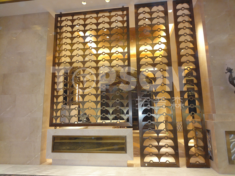 Decorative Stainless Steel Folding Screen Room Divider Partition Wall