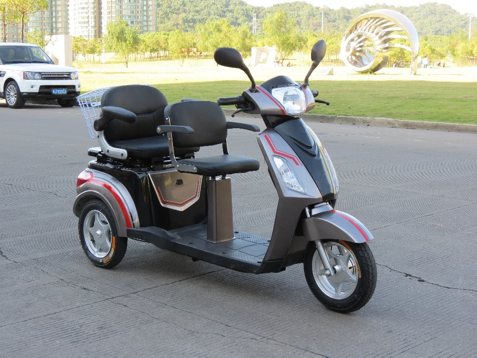 Electric Double Seat Passenger Tricycle for Old People and Disabled People