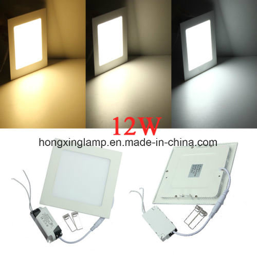 LED Square Panel Recessed Ceiling Light 12W 18W