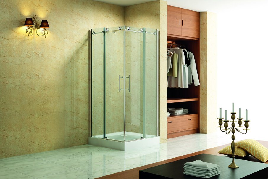Quadrant Shower Room with 2 Sliding Door