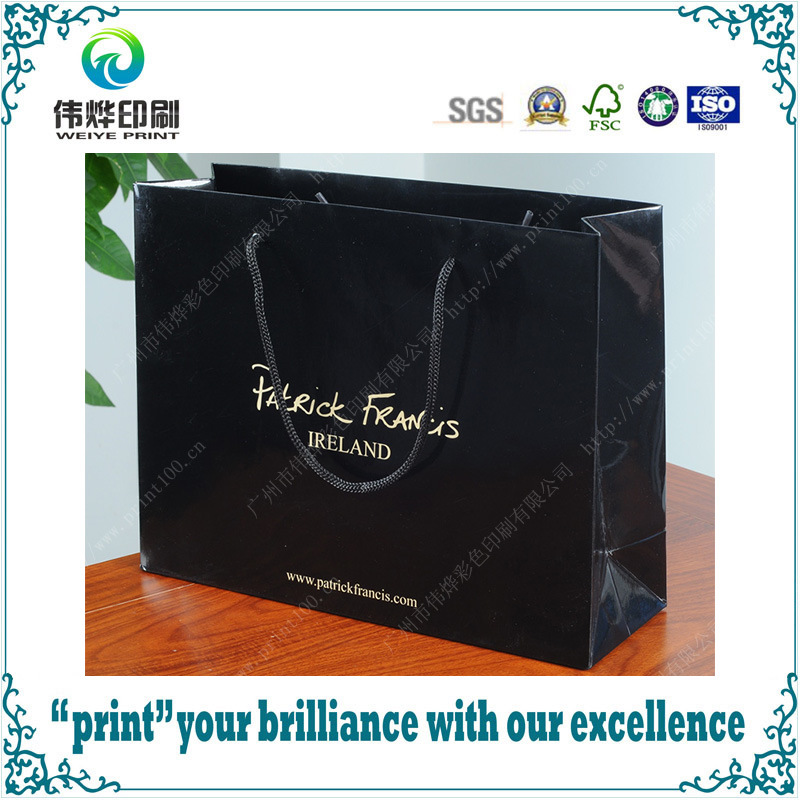 Customized Luxury Gloss Laminated Printing Paper Packaging Shopping Bag
