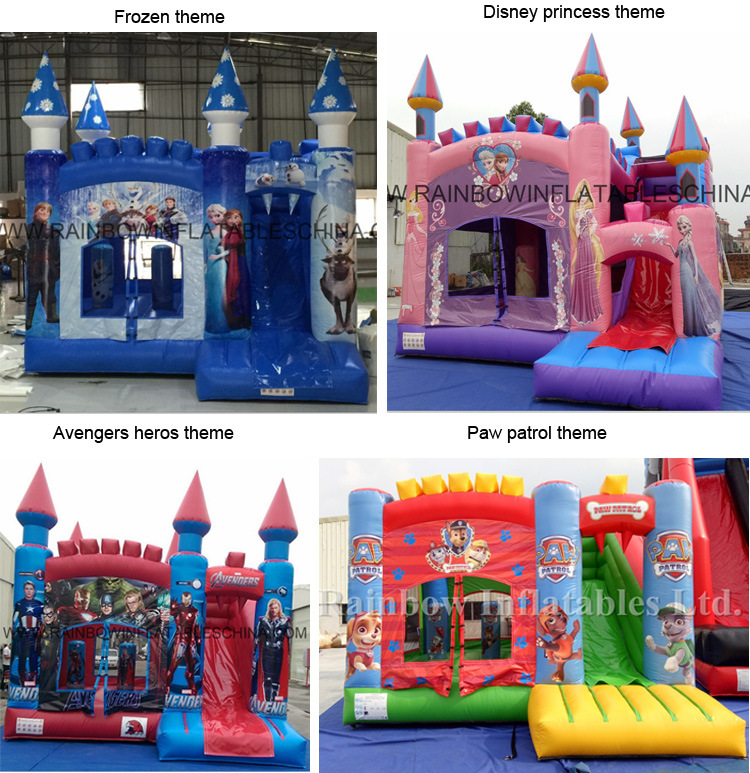 Famous Cartoon Design Inflatable Jumping Bouncer Slide Combo