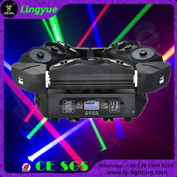 New 9 Heads DMX DJ Disco Stage Spider RGB Laser Light