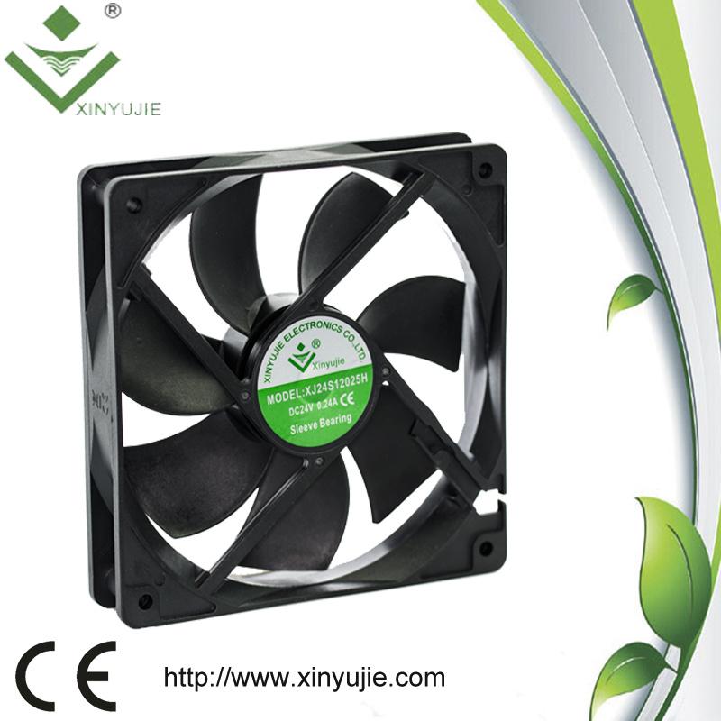 New Model 120*120*25mm 12V/24V 90cfm 37dba 12V DC Brushless Fan