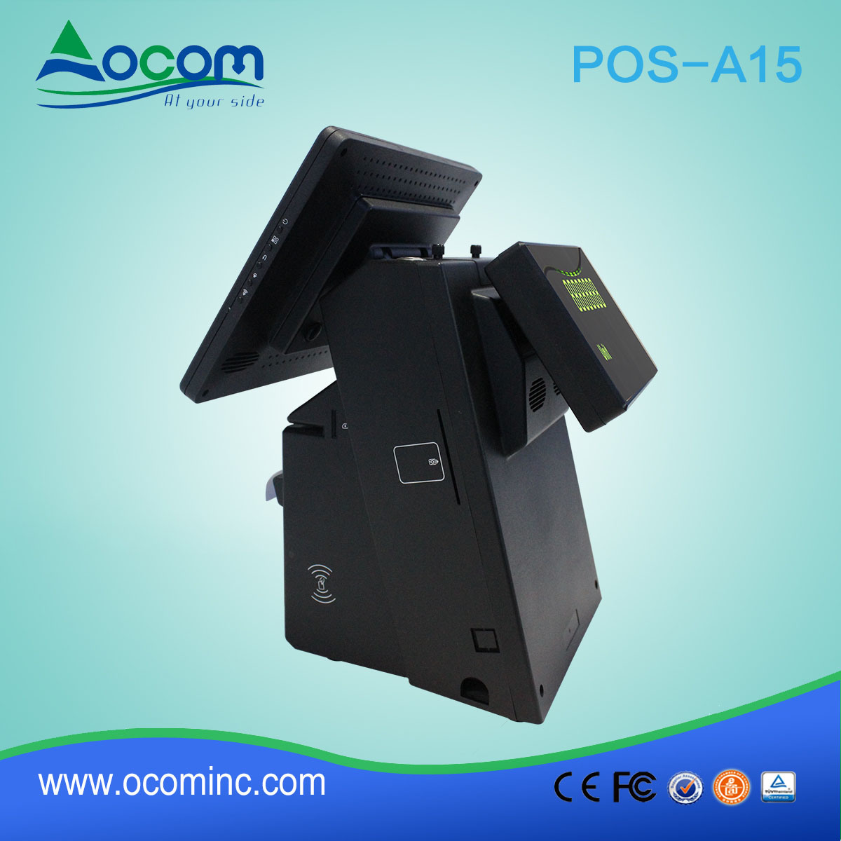 POS-A15 Windows Android Touch Screen Electronic Cash Register with Printer