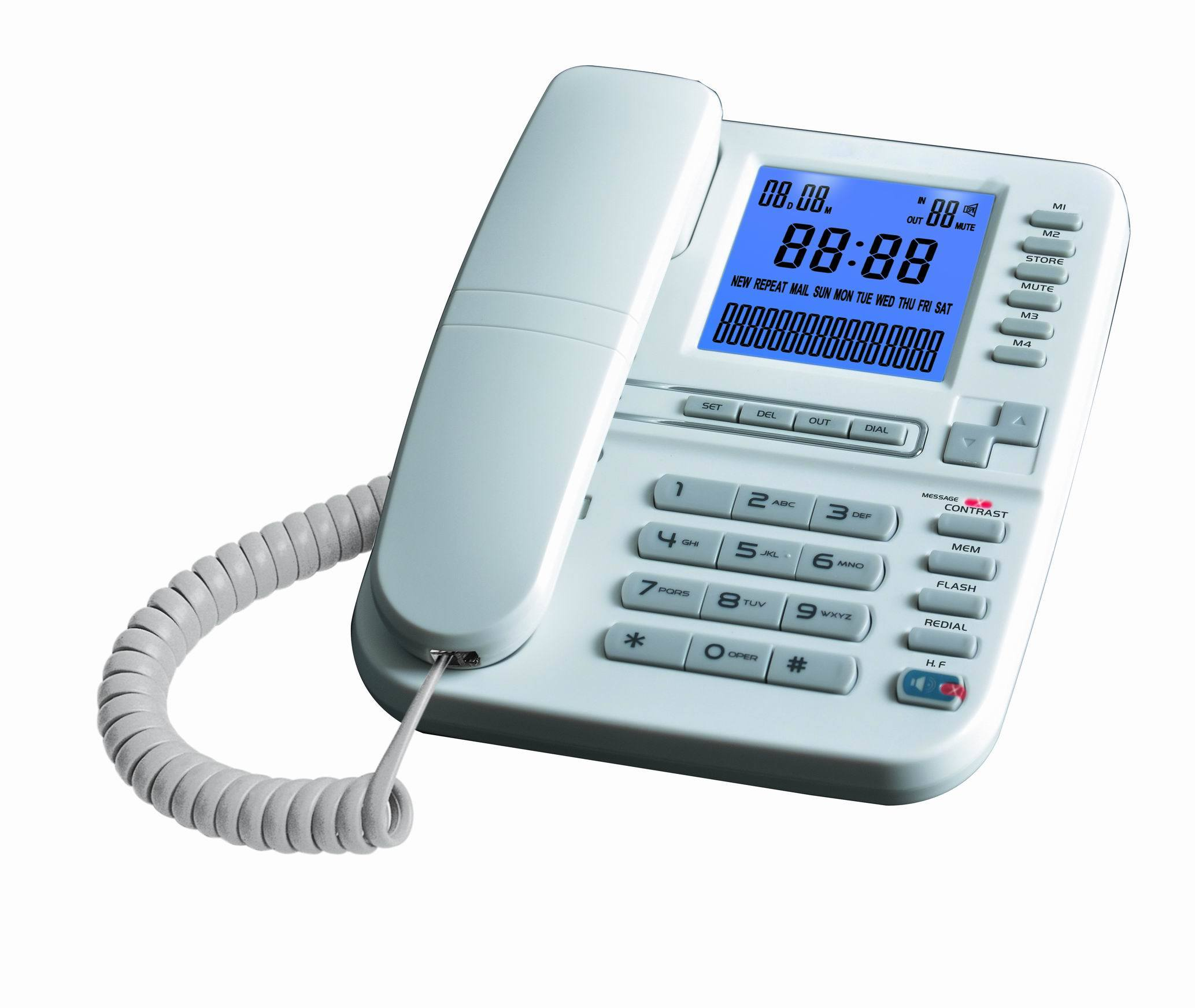 Caller ID Telephone, Telephone, Jumbo LCD Telephone, Big LCD Display, Speaker Phone