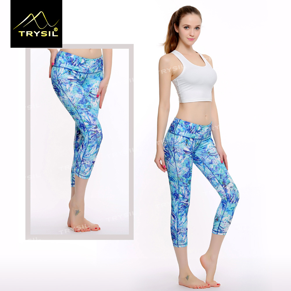 Female Tight Capri Leggings Custom Printed Design