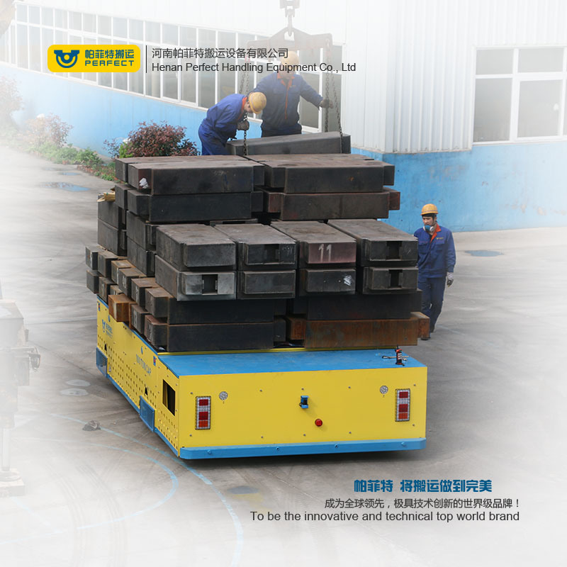Heavy Duty Motorized Flat Bed Die Transfer Cart