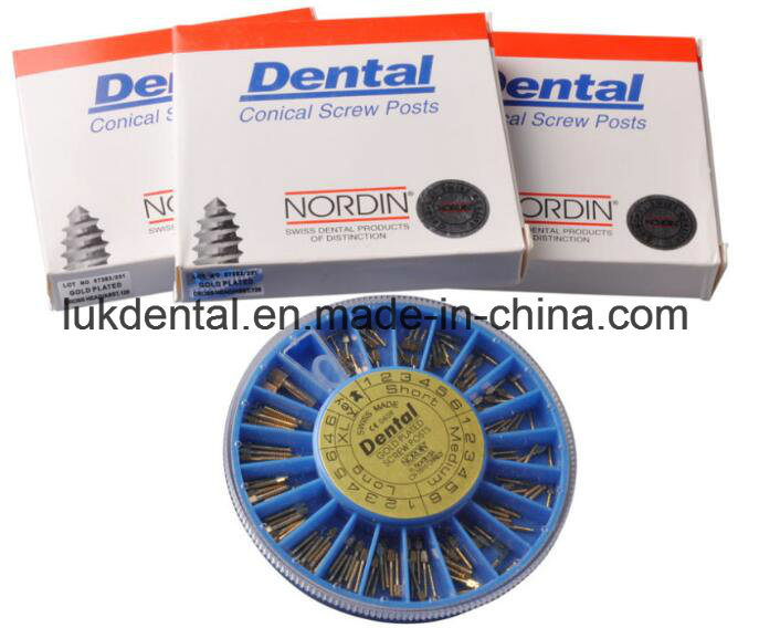 Hot Sale Nordin Dental Screw Post of Golden Plated Implant