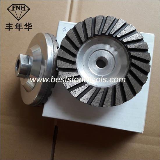 Cw-1 Turbo Aluminum Core Cup Diamond Grinding Wheel for Concrete