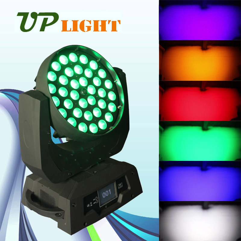Moving Head 36*18W Rgbwauv 6in1 Zoom Wash LED Stage Lighting