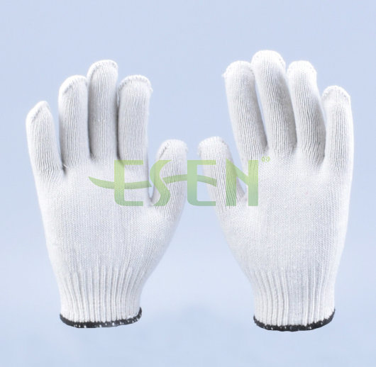10 Gauge Industrial Thin Cotton Yarn Gloves, Cotton Yarn Knitted Glove