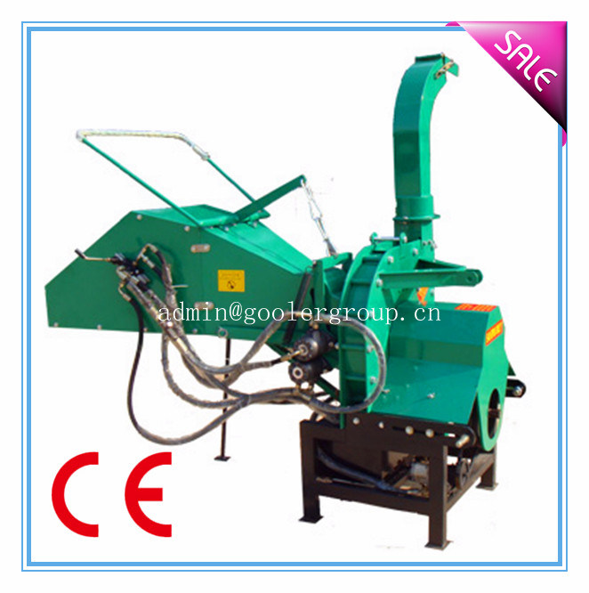 Pto Driven Wood Chipper Th-8, 8′′ Diameter, Two Hydraulic Feeding Rollers, 3point Hitch, Ce Approval