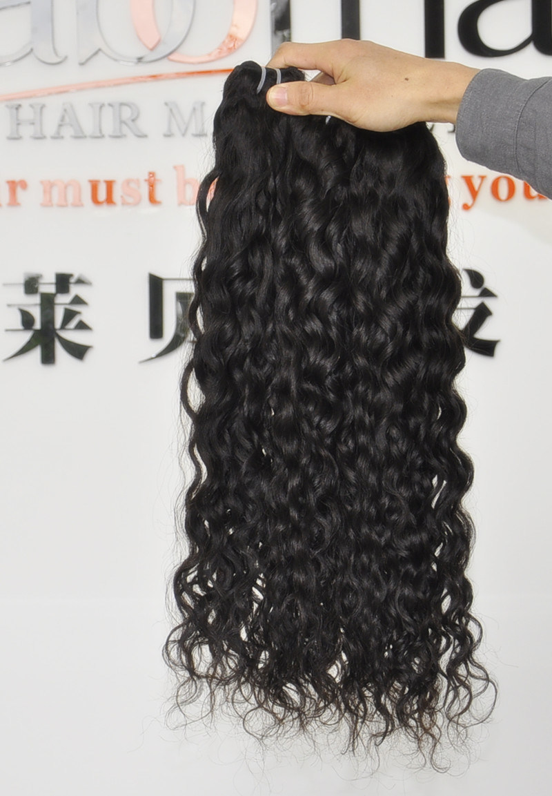 Unprocessed French Wave Hair Extension 105g (+/-2g) /Bundle Natural Brazilian Virgin Hair Italy Wave 100% Human Hair Weaves Grade 8A