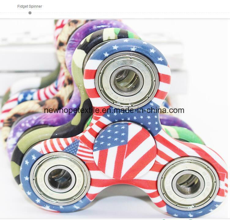 1 Side Zebra Custom Print Fidget Metal Spinner Hand Spinner Finger Spinner Toys Fight EDC Tri Digit Aluminum Brass Gyro Spinner