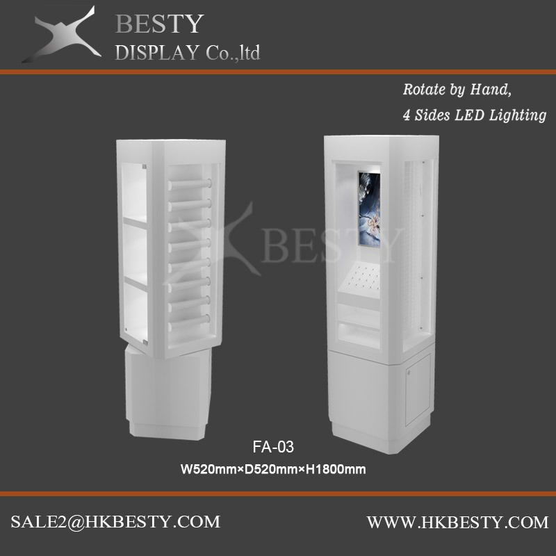 Customized Rotate Display LED Case for Jewelry Watch