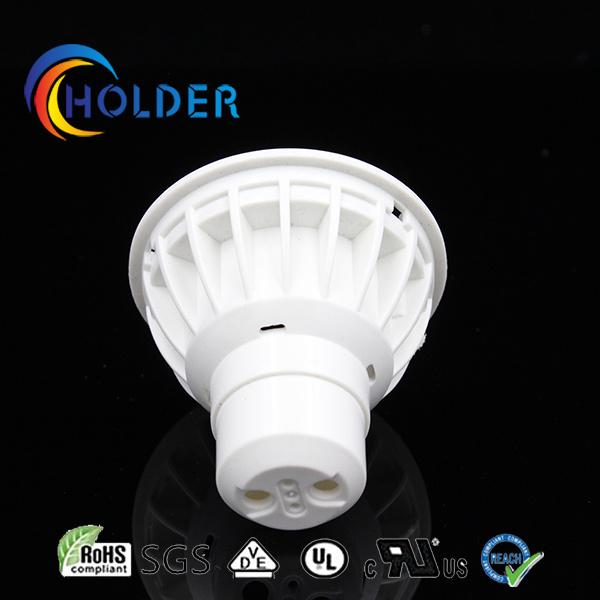 GU10 Lamp Casing Metallized Plastic Be Covered with Aluminum Insert