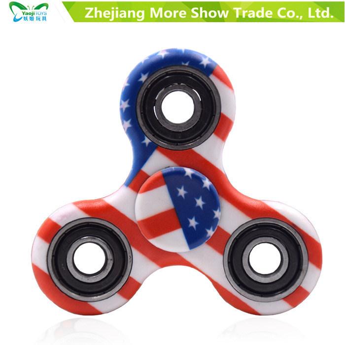 Tri-Spinner Fidget Toy Ceramic EDC Hand Finger Spinner Desk Focus Toys