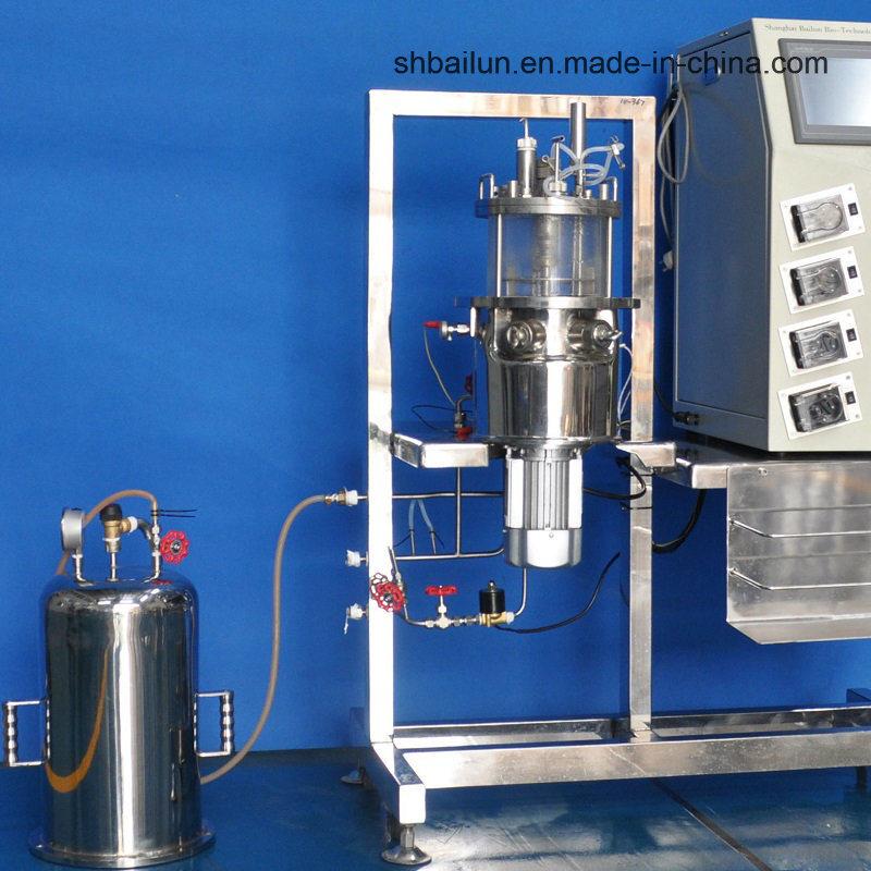 5 Liters in Situ Sterilization Glass Fermenters (Magnetic Drive glass tank vertical)