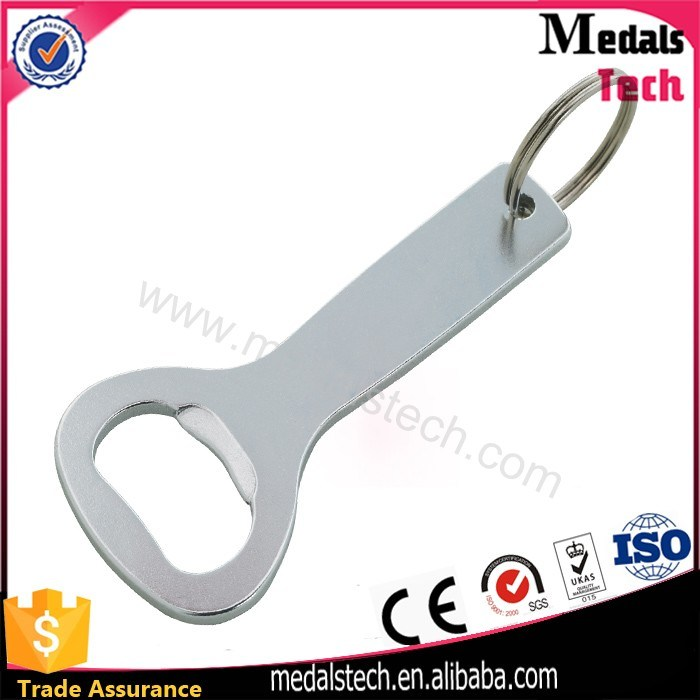 Blank T-Shape Bottle Opener Keychain with Nickel Plated