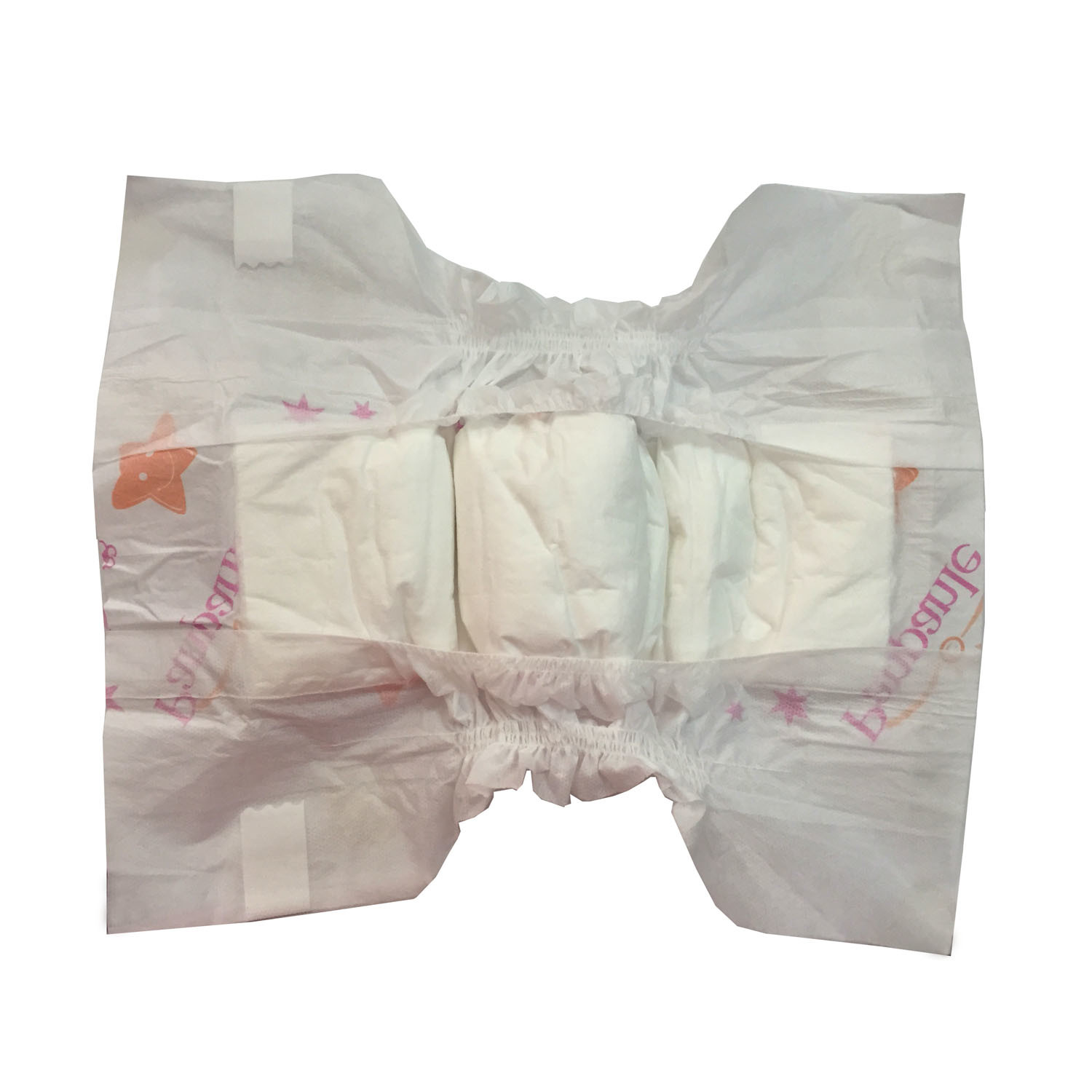 Baby Diaper with Clothlike Backsheet Printed Film Magic Tapes