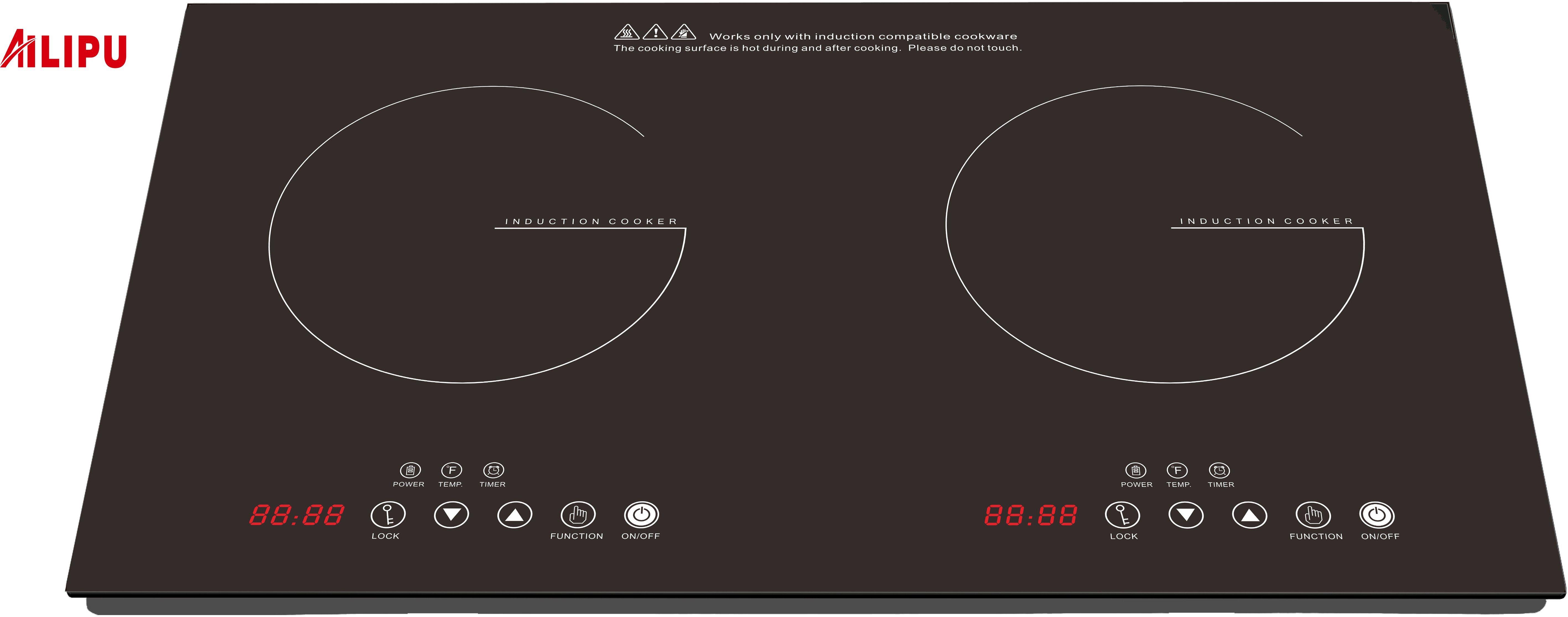 2 burner ETL 120V induction cooker for USA Market