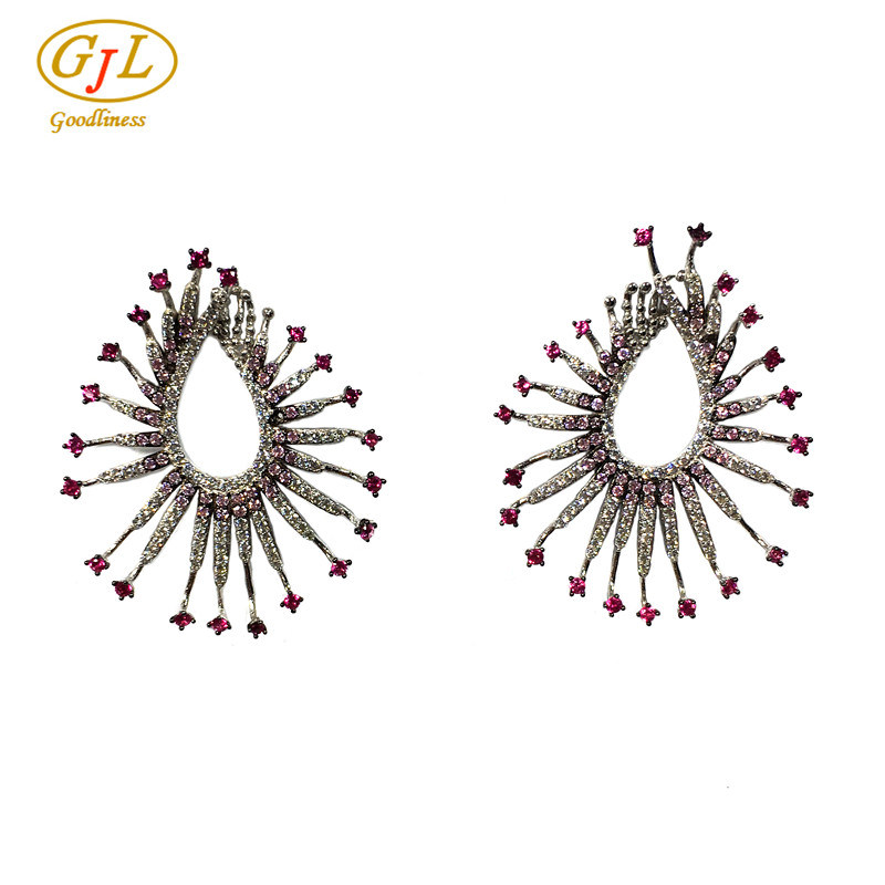 Silver Jewelry 3A CZ Earring for Woman with 925 Sterling Silver (E6953C)