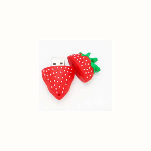 Strawberry USB Flash Drive Personalized Advertising Creative Custom Logo 128GB