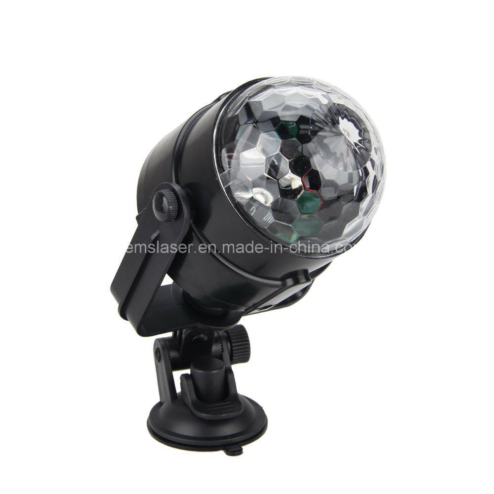 Hot Sale 5V 3W Car DJ Light Mini RGB LED Disco DJ Flash Light for The Car LED Magic Ball Light