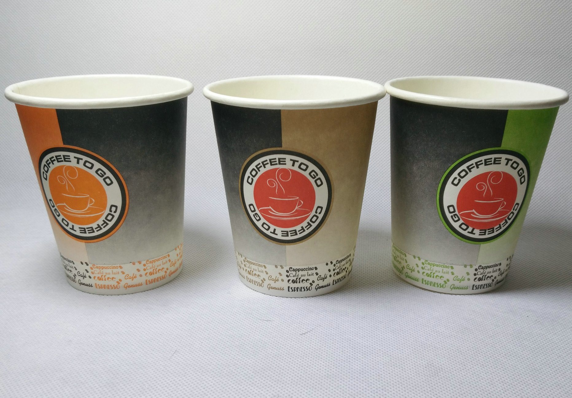Disposable Printing Paper Cups for Hot/Cold Drinking