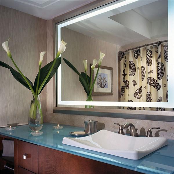 ETL IP44 Rated Us Hotel LED Illuminated Hotel Bathroom Mirror