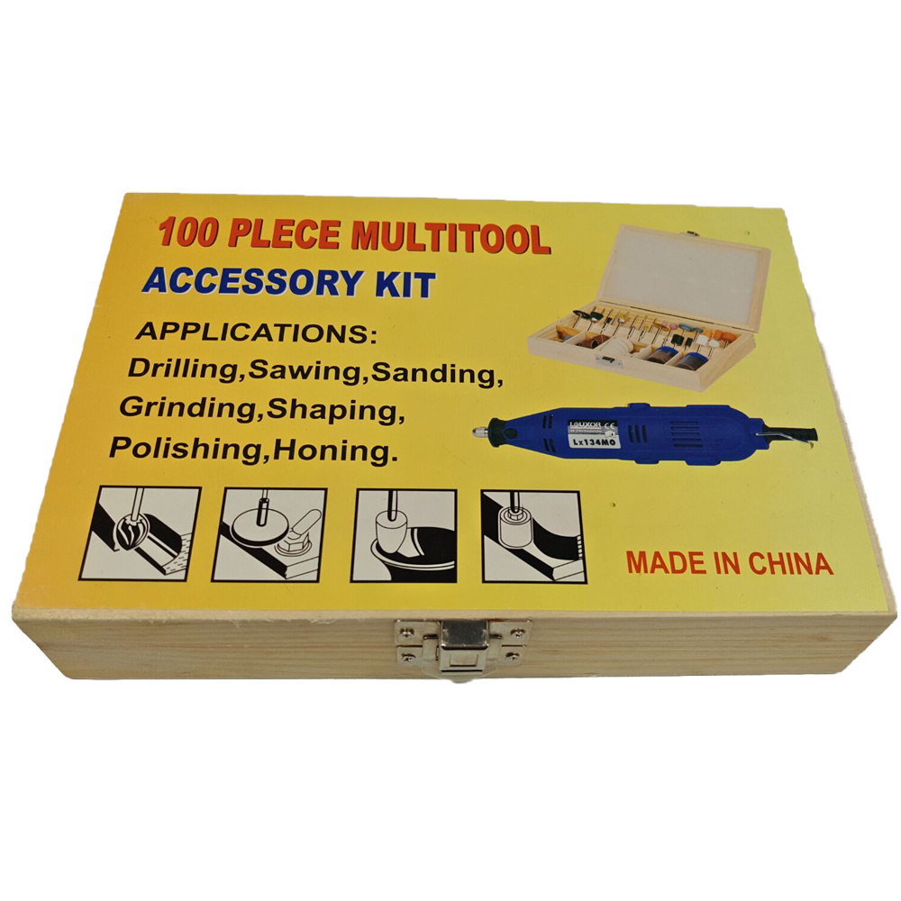 Woodbox Packing 100PC Multitool Accessory Kit