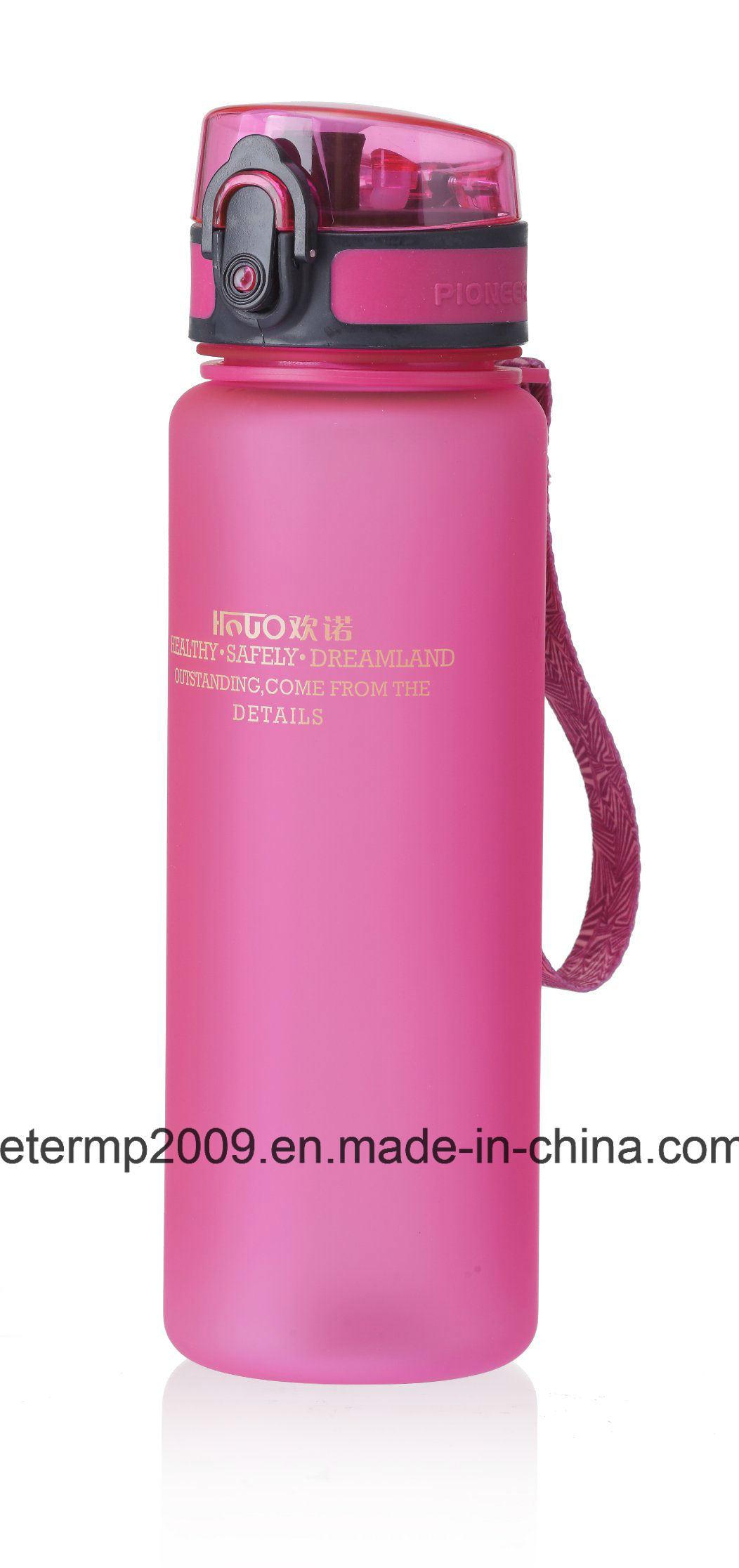 600ml 20oz Plastic Water Bottle, Gray Sport Bottle, Customized Color and Design Bottle