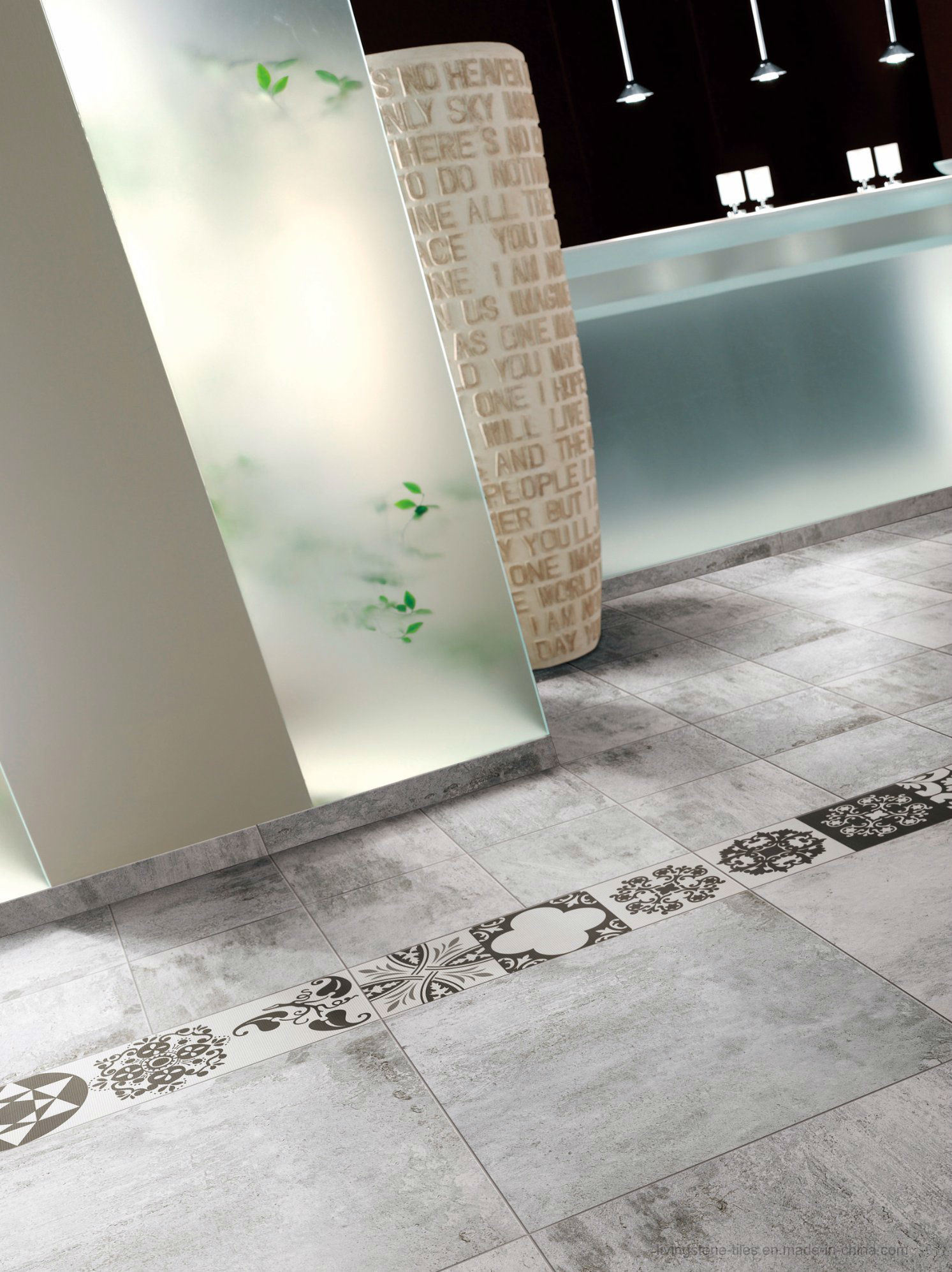 Italian New Cement Look Design Ceramic Floor Tile (Lx6615W)