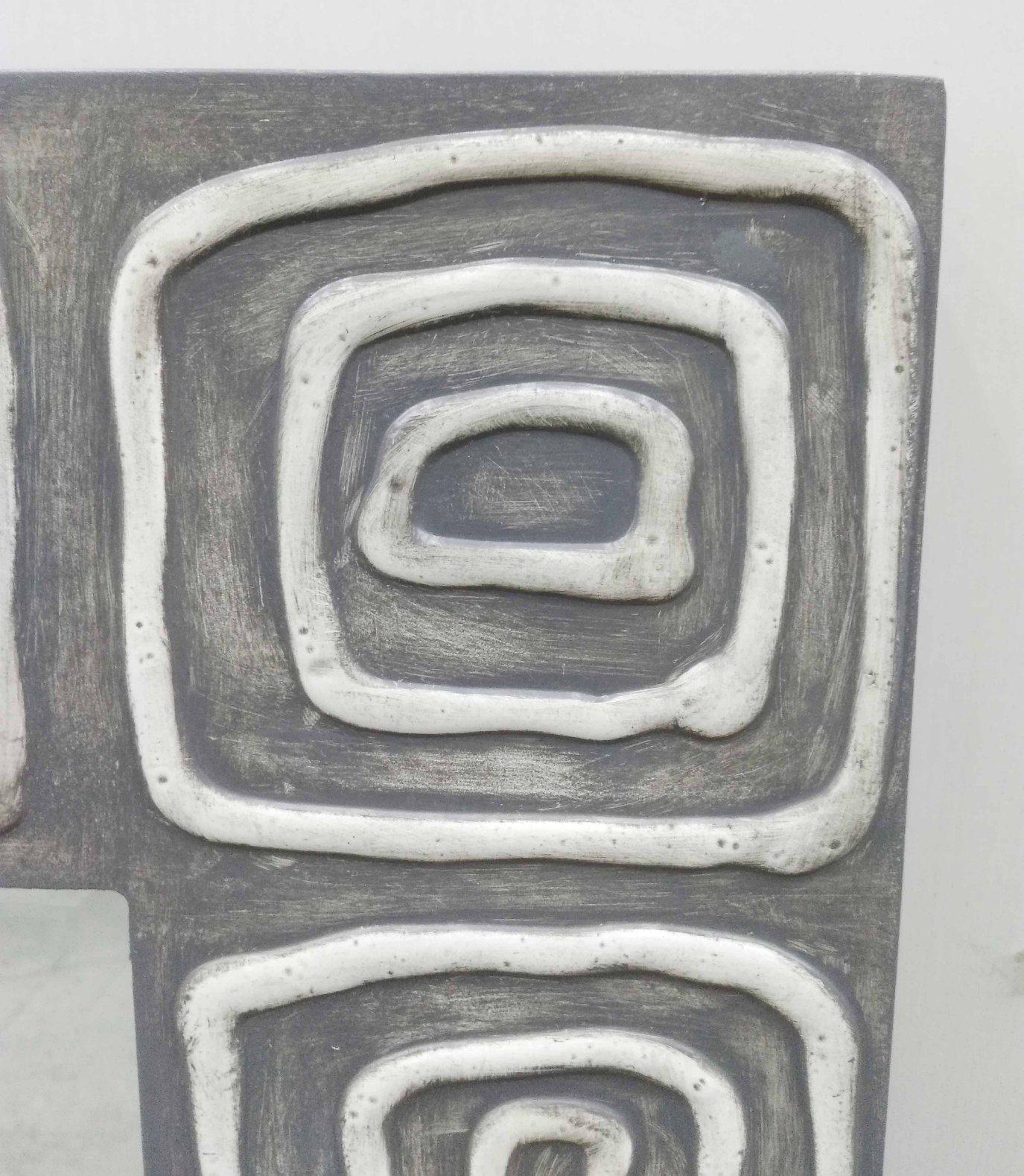 Home Decorative Gel Paint Wall Art Grey Wall Mirrors (LH-M17015)