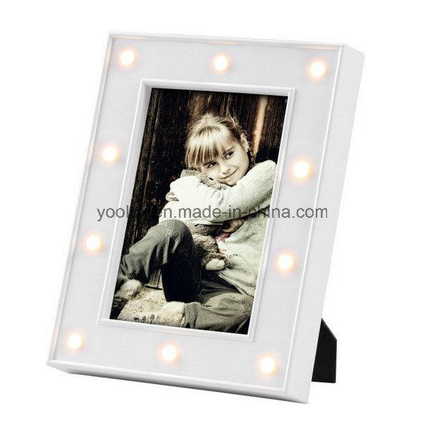 Plastic Frame Home Decoration Craft Promotion Gift LED Photo Frame