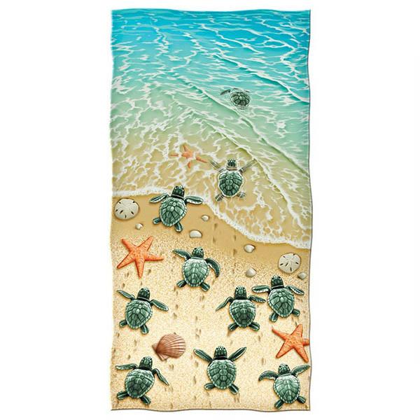 Reactive Print Design/ Logo Cotton Velour Beach Towels/Swimming Towels