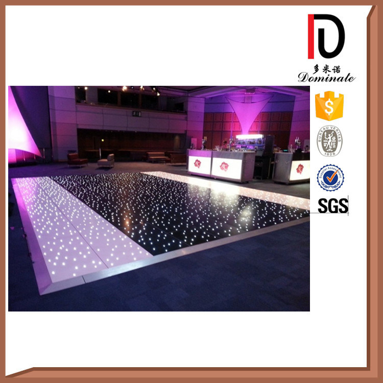 Durable White Black Wedding LED Teak Solid Wooden Dance Floor