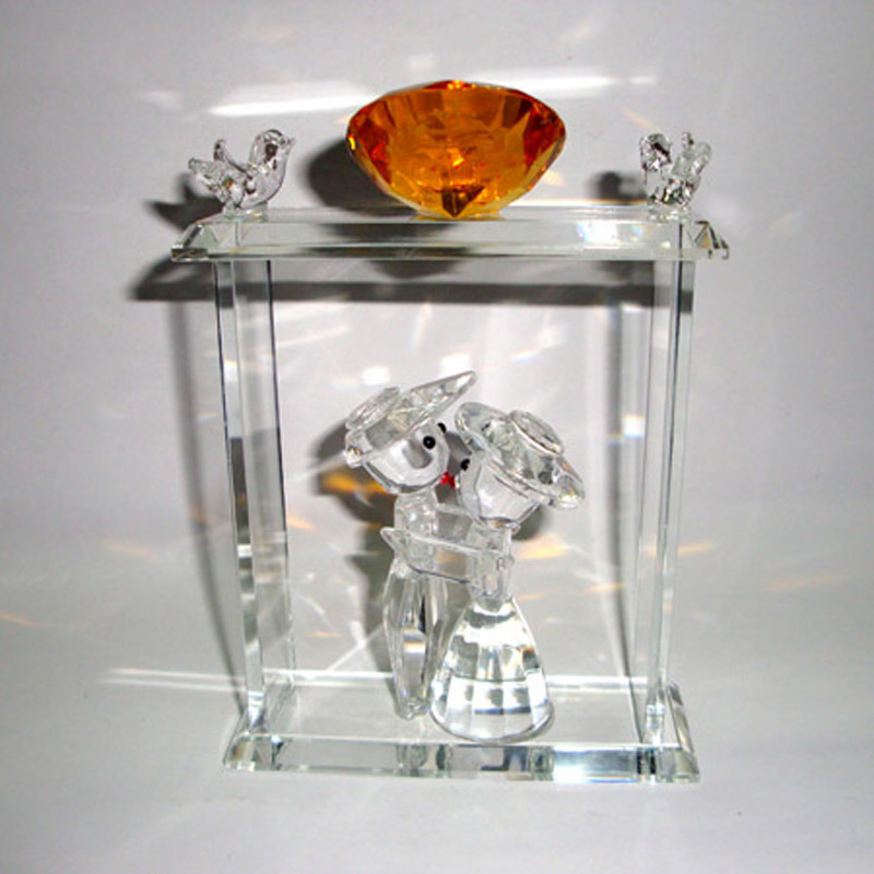 Crystal Wedding Gift: China Crystal Wedding Gift-Crystal Lover (WG023)