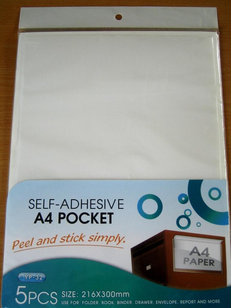 Self- Adhesive A4 Pockets-Long Side