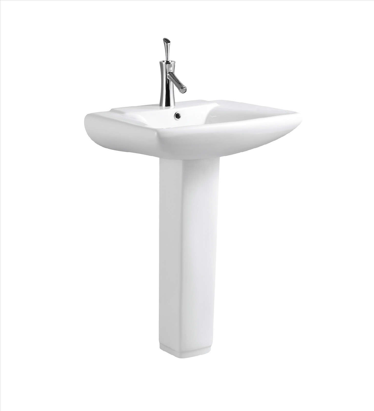 Wash Hand Basin Sink With Pedestal (C11005) - China Toilet Basin, Wash ...